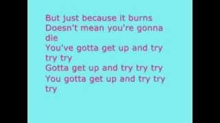 Pink - try lyrics