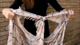 Clothing Cove University: How To Turn A Long Scarf Into Vest