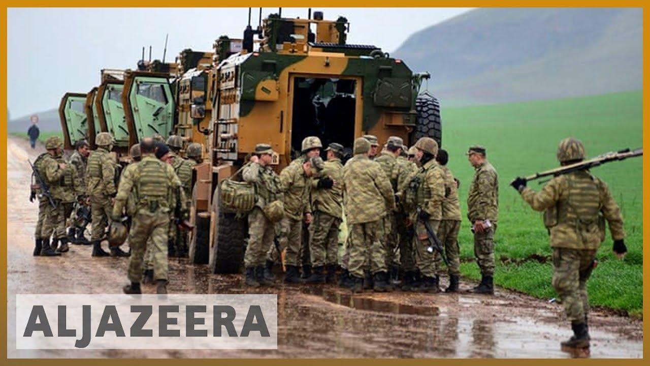 AlJazeera English:Turkey says military convoy targeted in northern Syria