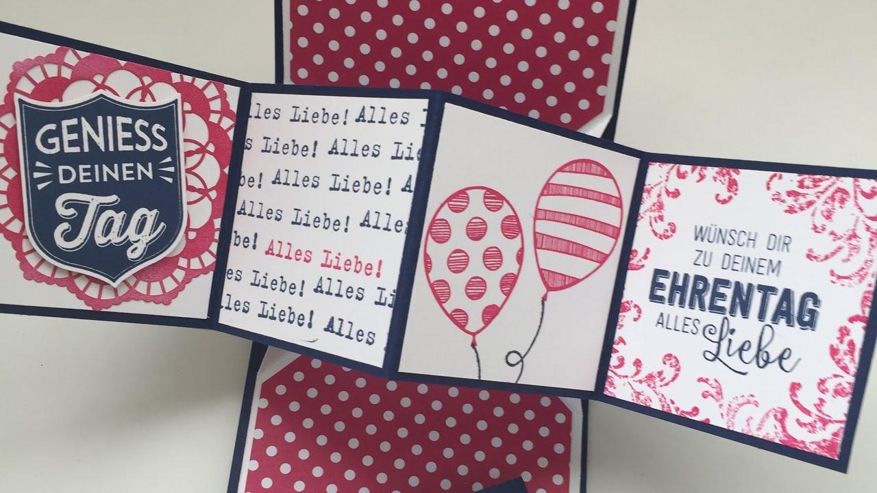 Geburtstagskarte basteln pop up vorlage
