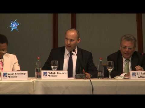 שר הכלכלה והמסחר נפתלי בנט מדבר על יהלומים