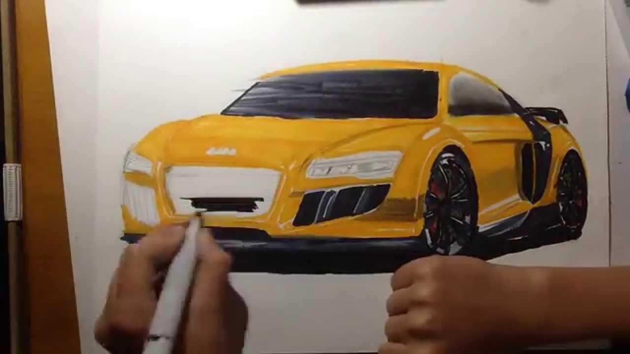 Audi R8 Drawing Youtube