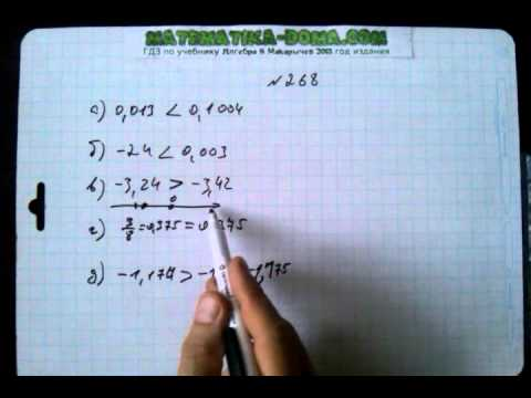 гдз по алгебре 8 класс номер 268