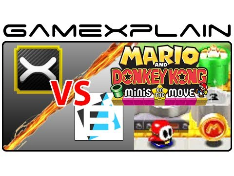 GX Vs TheBitBlock - Mario and Donkey Kong: Minis on the Move Custom Stage Challenge Travel Video
