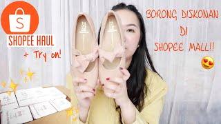 Borong Sepatu Murah Di Shopee Mall! Sneakers, Flatshoes, Heels!!
