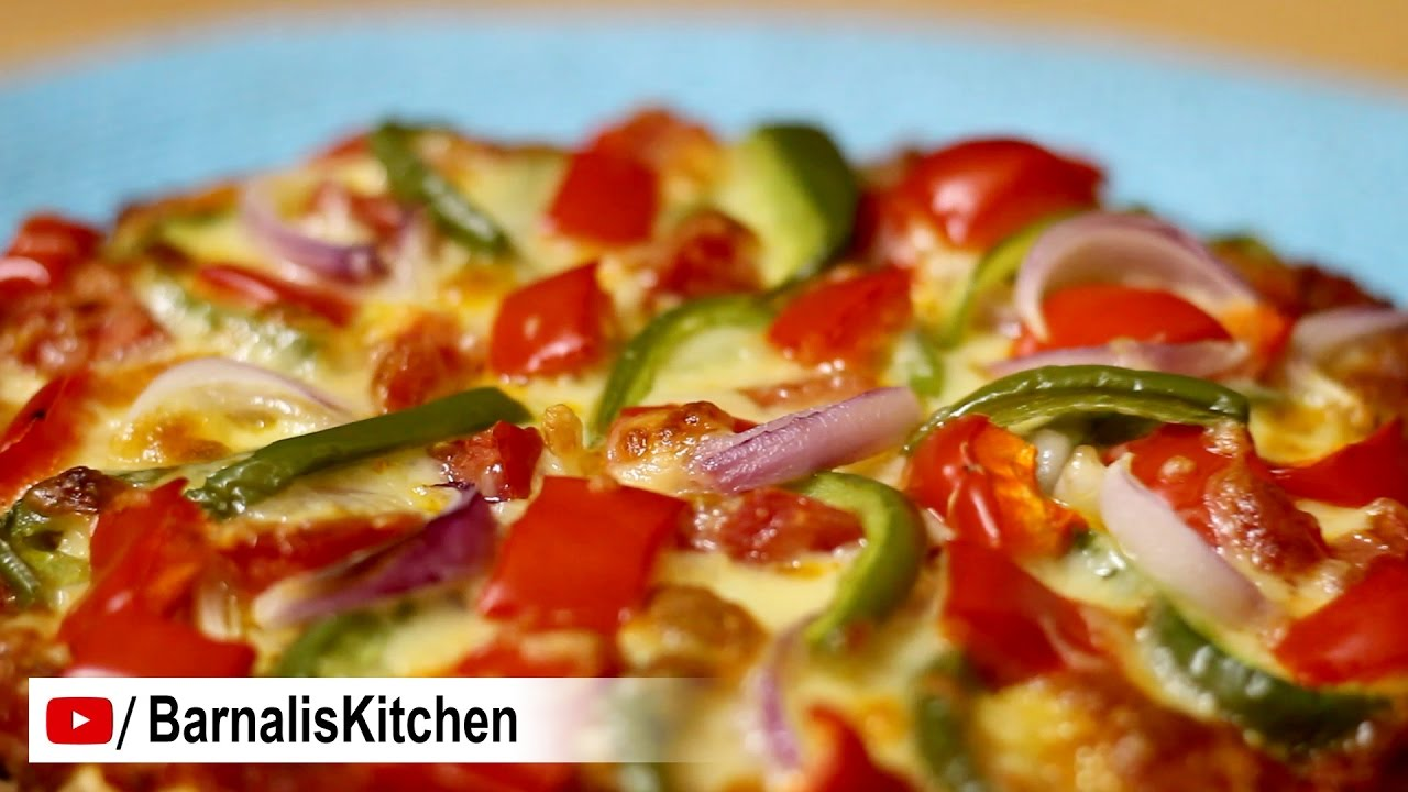 Dominos Kitchen how to make dominos country special veg pizza - veg pizza recipe