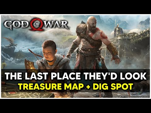 God Of War - The Last Place They'd Look Treasure Map + Dig Spot Locations