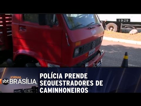 Polícia prende sequestradores de caminhoneiros | Jornal SBT Brasília 10/07/2018