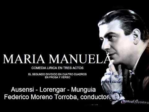 MARIA MANUELA. Federico Moreno Torroba.