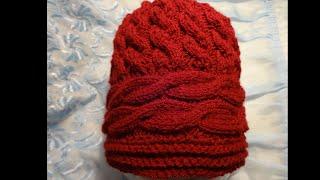 Вязание женской шапки (шапочки) спицами