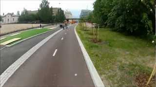Baana, a new pathway for pedestrians and cyclists in Helsinki.