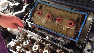 1999 Civic with B-18 Acura engine swap Valve Cover Gasket Change