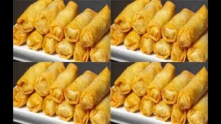 طريقة عمل اصابع الجلاش بالجمبرى - سبرنج رول - سبرنغ رول  cooking  recipes  food - Mai Ismael Channel