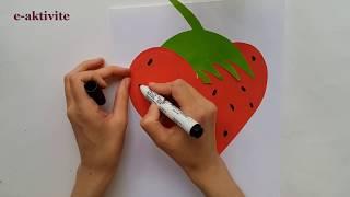 Okul Öncesi 3 Boyutlu Çilek Sanat Etkinliği Yapımı