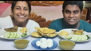 Rice Eating Challenge - Eating Indian Bengali Food Foodie Dipa Vlog - Foodie Family Vlog