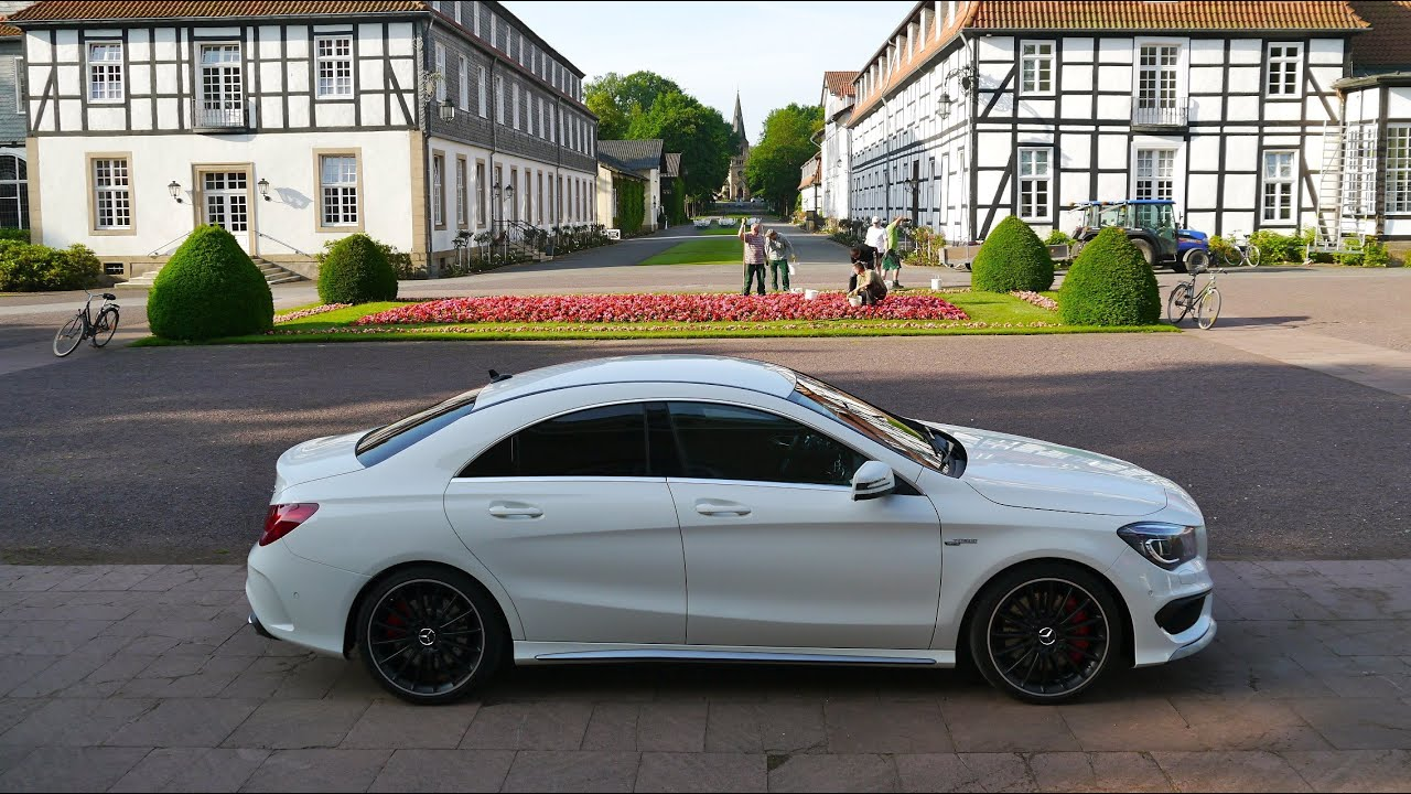 mercedes cla 45 amg first drive youtube. Black Bedroom Furniture Sets. Home Design Ideas