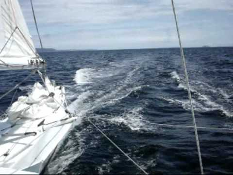 Proa JZERRO sailing 17.8 knots on auto-pilot