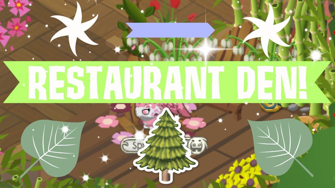 animal jam decorating 2 restaurant den youtube