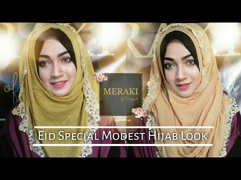 Eid Hijab Look with my brand Meraki of Parizaad 💖 thumbnail