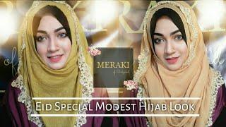 Eid Hijab Look with my brand Meraki of Parizaad 💖
