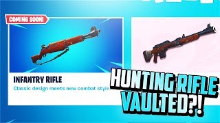 Fusil d'infanterie new à Fortnite (Hunting Rifle Getting VAULTED?)