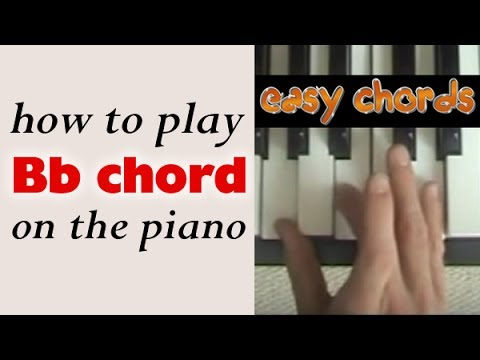 Bb Chord Piano How To Play Bb Major Chord On The Piano Or Keyboard