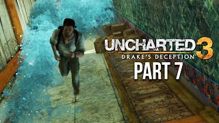 UNCHARTED 3 DRAKE'S DECEPTION Gameplay Walkthrough Part 7 - ESCAPING THE SHIP