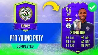 96 'YOUNG POTY' STERLING SBC CHEAPEST SOLUTION - #FIFA19 96 Raheem Sterling Young POTY SBC