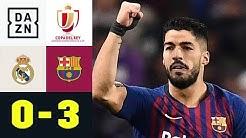 Panenka-Elfer! Luis Suarez demütigt Kroos & Co.: Real Madrid - FC Barcelona 0:3 | Copa del Rey| DAZN