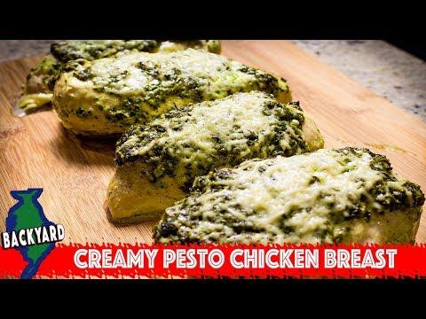 Chicken Breast Recipe W/ Pesto Parmesan