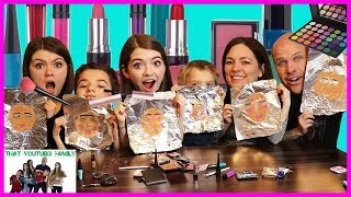Family Tinfoil Makeup Challenge / That YouTub3 Family