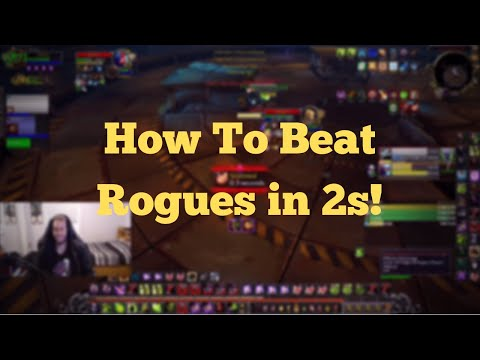 How To Beat Rogues in 2s! - Warlock POV 2v2 Arena (BFA World of Warcraft)