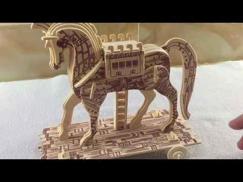 DIY Miniature Trojan Horse ~ 3D wooden puzzle