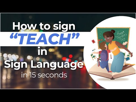 "How to Sign ""Teach"" in Sign Language? Watch Travel to Ghana Series NOW!!"