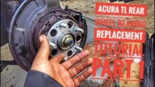 Acura wheel bearing more than big how to replace rear wheel bearing pt 1 sciox Gallery