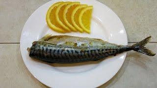 Скумбрия запеченная в фольге с апельсином - быстрый рецепт