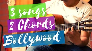 3 Bollywood songs for absolute beginners guitar lesson using 2 chords (www.tamsguitar)