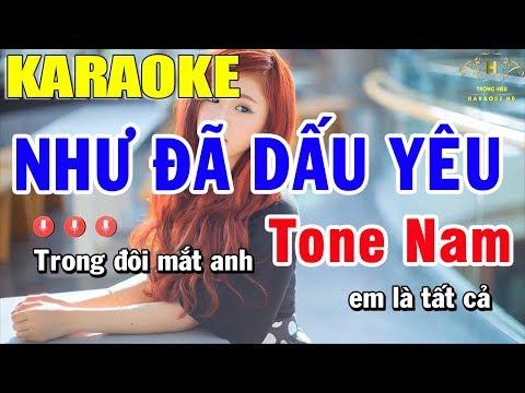 Karaoke Như Đã Dấu Yêu Tone Nam Nhạc Sống | Trọng Hiếu