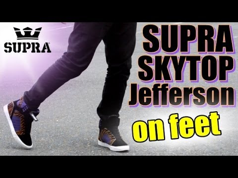 Supra Skytop Jefferson (on feet) - YouTube 271a5d2a0