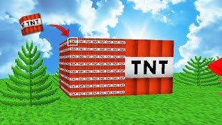 ¿QUÉ EXPLOTA MÁS? → 1000 MINI-TNT Vs TNT 💣 MINECRAFT TROLL