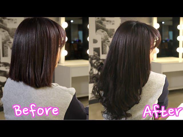 Korean Clip In Hair Extensions Blending With Short Hair Clipzui