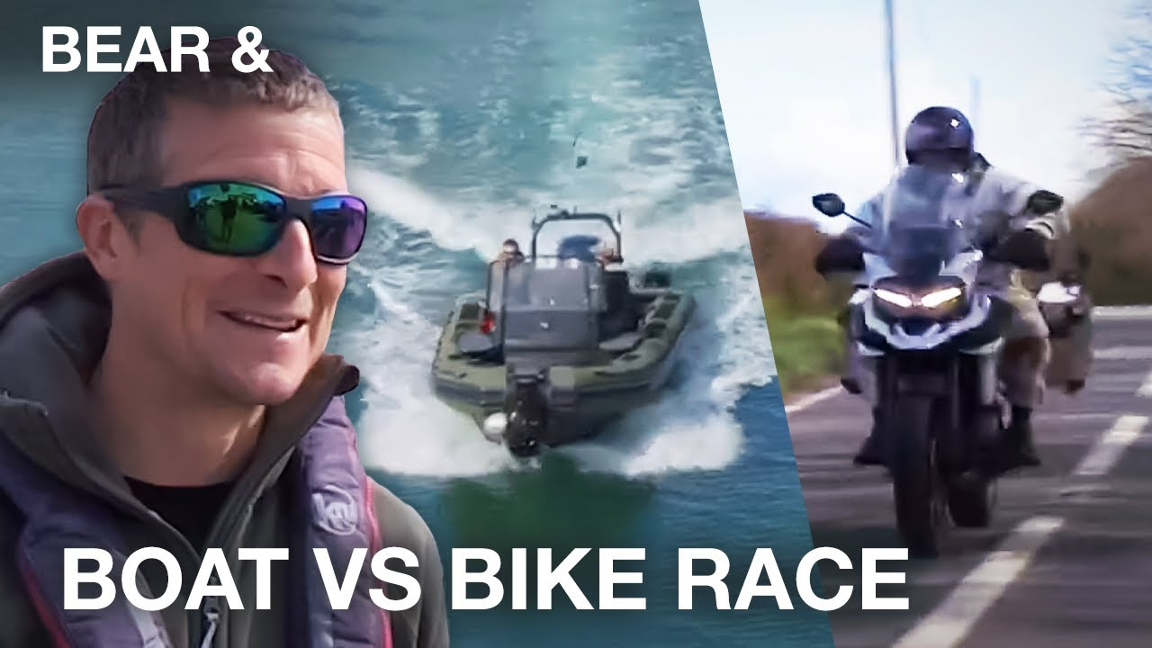 Bear Grylls' Boat VS Bike Race With Former SAS Soldier - Bear &