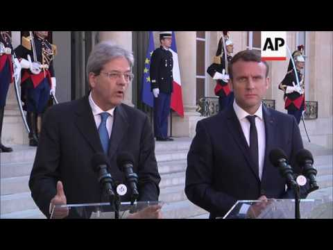 French President hosts Italian PM