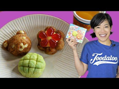 Popin' Cookin' Fresh BAKERY - miniature Japanese DIY baking kit - TINY melon pan, kuma pan