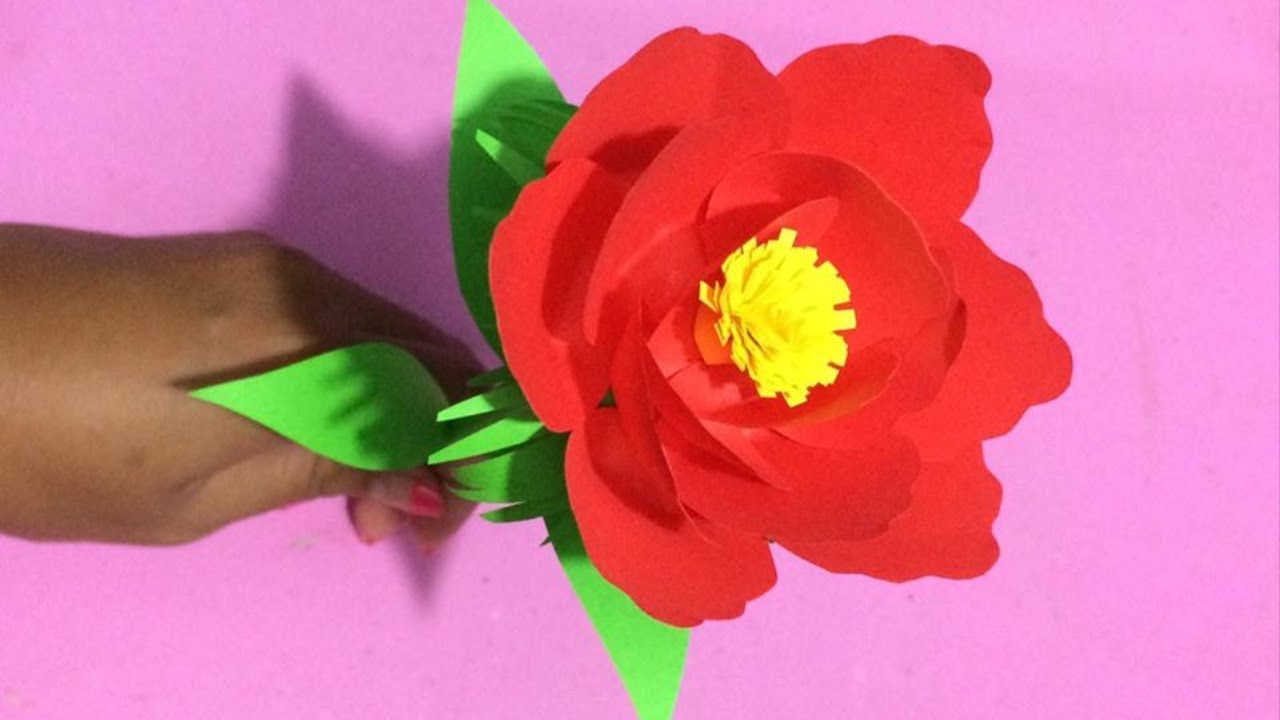 How To Make Flower With Paper Making Paper Flowers Step By Step