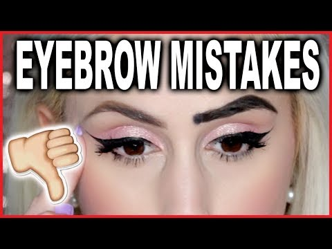 EYEBROW MISTAKES & How to Fix Them || FREE Online Makeup Lessons 101