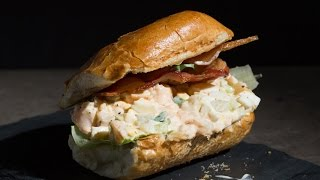 The Best Egg Salad Sandwich with Shrimp and Bacon | SAM THE COOKING GUY