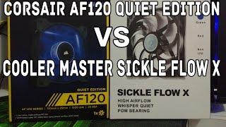 anlise corsair af120 quiet edition vs cooler master sickle flow x pt br