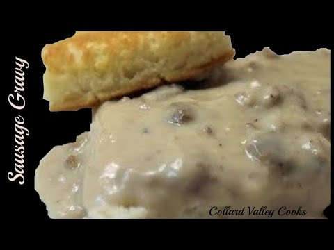 Old Fashioned Buttermilk Biscuit Hoe Cake and Sausage Gravy, Best Southern Cooks