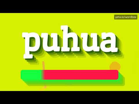 HOW PRONOUNCE PUHUA! (BEST QUALITY VOICES)